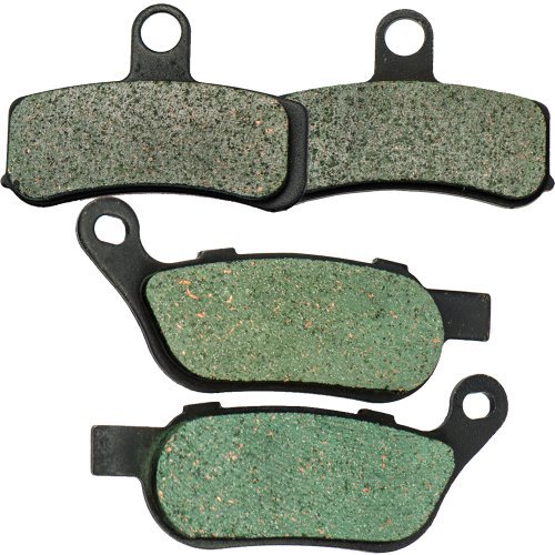 Front and Rear Kevlar Carbon Brake Pads for Harley Davidson FLSTC Heritage Softail Classic 2008-2014