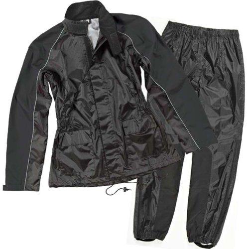Joe Rocket Rs-2 Women's 2-piece Street Motorcycle Rain Suits - Black/black / Small