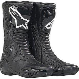 Alpinestars S-MX 5 Mens PerformanceRoad Riding Street Racing Motorcycle Boots - Black  Size 43