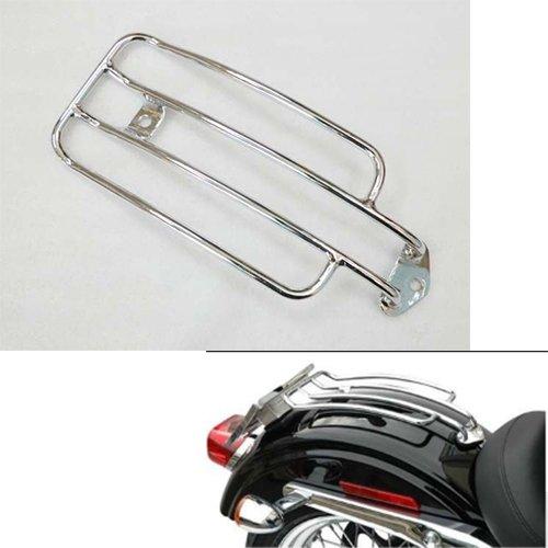 Chrome Steel Solo Luggage Rear Fender Rack for 1985-2003 Harley Sportster XL 1200 883 1986 1987 1988 1989 1990 1991 1992 1993 1994 1995 1996 1997 1998 1999 2000 2001 2002 85-03