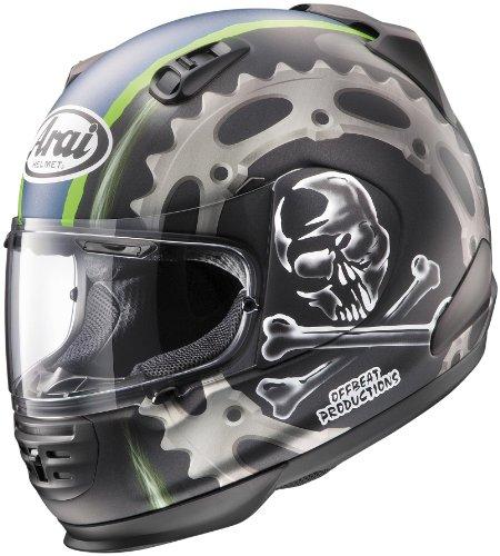 Arai Defiant Jolly Roger 2 Mens Full-face Motorcycle Helmet-black (x-large)