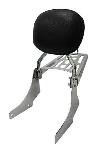 Round - Sissy Bar Backrest Luggage Rack for 95 Honda Shadow VT Ace  Sabre VT1100 C2