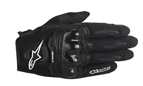 Alpinestars SMX-1 Air Mens Street Motorcycle Gloves - Black  Medium