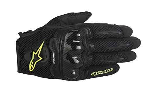 Alpinestars SMX-1 Air Mens Street Motorcycle Gloves - BlackYellow  Medium