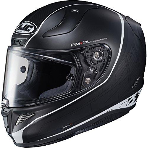 HJC RPHA-11 Pro Riberte - Full-Face Street Motorcycle Helmet - BlackSilver SF - Medium