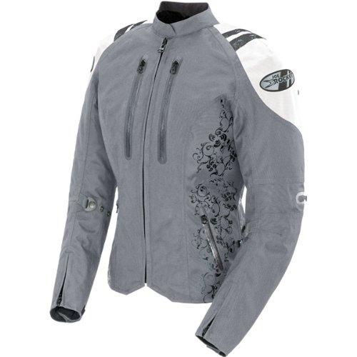 Joe Rocket Atomic 40 Womens Textile Street Motorcycle Jacket - SilverWhite  1 Diva