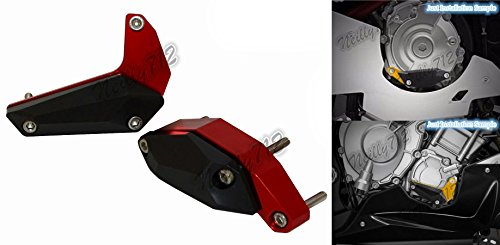 waase Motorcycle Left Right Engine Case Cover Crash Pad Frame Slider Protector For Yamaha YZF R1 R1M 2015 2016 2017 Red