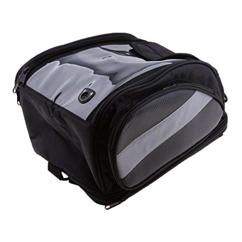 MonkeyJack Universal Oil Fuel Tank Bag with Magnetic Motorbike Riding Waterproof Bag Black