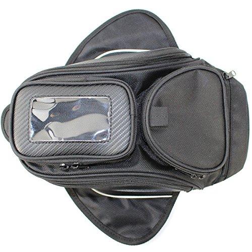 Universal Motorcycle Tank Bag Waterproof Motorbike Oil Fuel Tank Bag Magnetic Motorbike Riding Bag Case by Amhousejoy Black