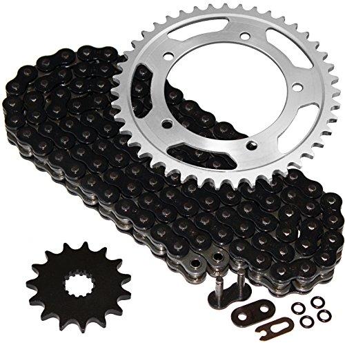 Caltric Black O-Ring Drive Chain Sprockets Kit Fits SUZUKI 600 GSX-R600 GSXR600 2006-2010
