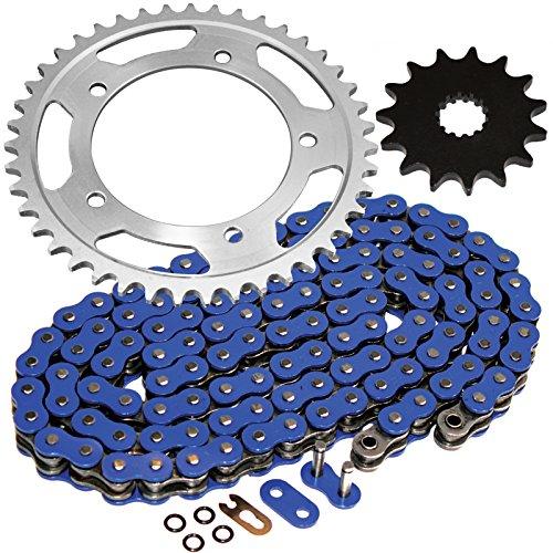 Caltric Blue O-Ring Drive Chain Sprockets Kit Fits SUZUKI 600 GSX-R600 GSXR600 2006-2010