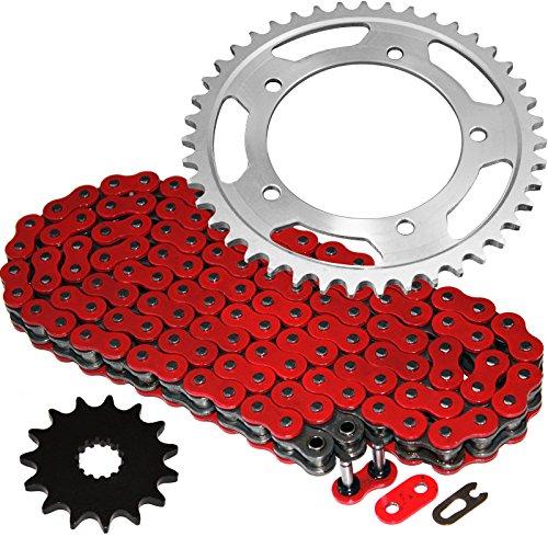 Caltric Red O-Ring Drive Chain Sprockets Kit Fits SUZUKI 600 GSX-R600 GSXR600 2006-2010