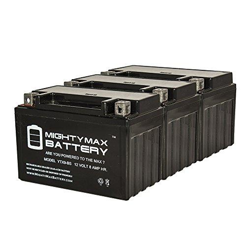 YTX9-BS SLA Battery for Suzuki 600 GSX-R600 '2015-'2016 - 3 Pack
