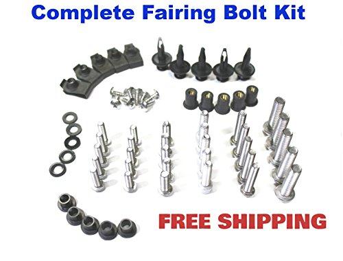 Complete Motorcycle Fairing Bolt Kit Suzuki GSX-R 1000 2005 - 2006 Body Screws Fasteners and Hardware