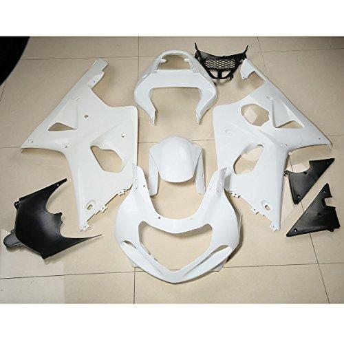 XFMT Motorcycle White Unpainted ABS Plastic Fairing Cowl Bodywork Set For SUZUKI GSX-R 1000 GSXR1000 2000 2001 2002 K1 K2