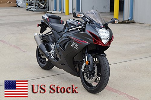 US STOCK Red w Gloss Matte Black Complete Fairing Bodywork Aftermarket Painted ABS plastic Injection Molding Kit for 2011-2016 Suzuki GSXR 600 750 K11 2012 2013 2014 2015