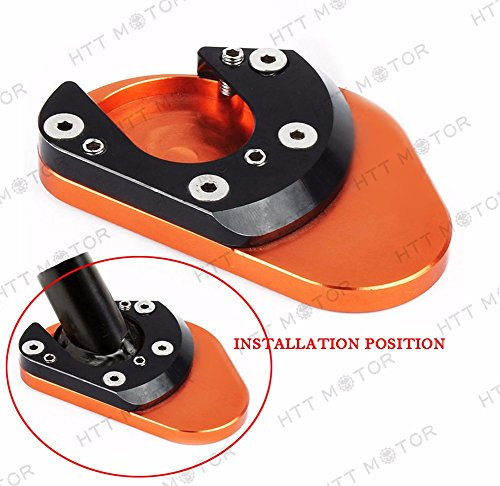 HTTMT- CNC Sidestand Plate Kickstand Extension Pad For KTM 125 200 390 DUKE 2013-2015