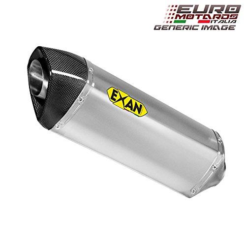 Kawasaki ZX6R 2013-2016 Exan Exhaust Silencer OVAL X-BLACK Titanium New