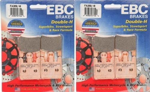 EBC Sintered Double H Front Brake Pads 2 Sets FA3694HH 2003-2006 Kawasaki ZX600 Ninja ZX6-RR
