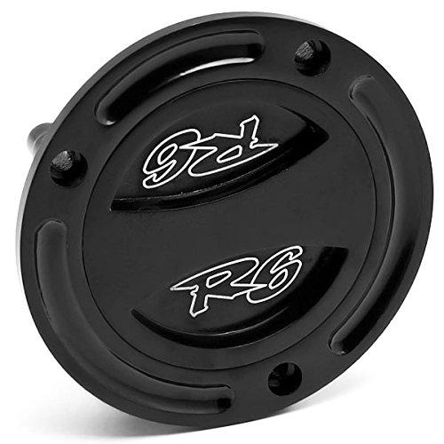 Krator Black Keyless Gas Cap Twist Off Fuel Tank Cap Logo For Yamaha FZ6 2004-2009