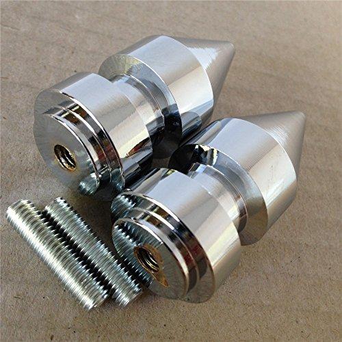 XKH- Chrome Spike Swingarm Spools No logo 6mm Thread For Yamaha FZ-1 FZS10V 2004-2013 FZ6 2004-2008 FZ8 2011-2012 FZS1000 FZ1 2004-2008 FZS600 FZ6 2005-2008