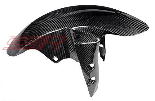 Yamaha R1 R6 FZ8 FZ1 Fazer 100 Twill Carbon Fiber Fender Mud Splash Guard Fairing check fitment chart in Picture Gallery