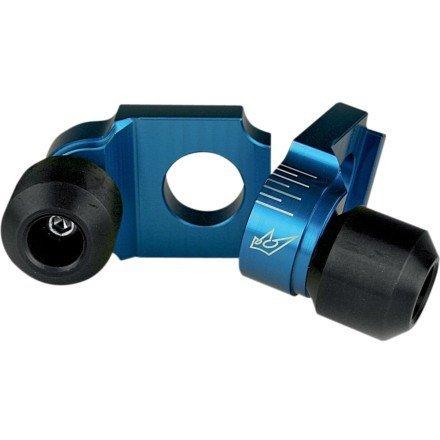 01-09 SUZUKI GSXR600 Driven Racing Axle Block Sliders BLUE