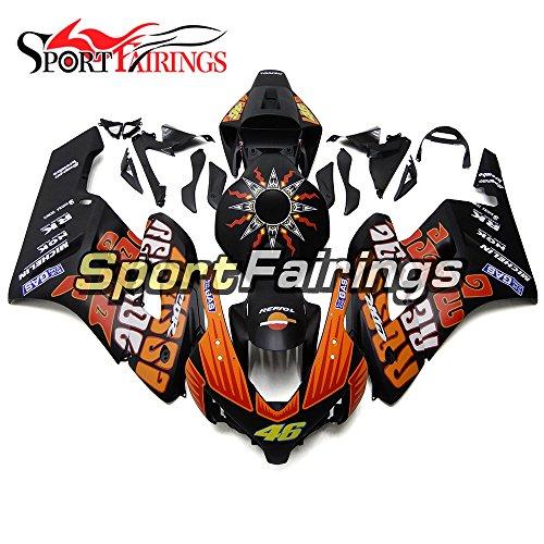 Sportfairings ABS Injection Plastics Motorcycle Fairing Kits For Honda CBR1000RR Year 2004 2005 Black Orange Cowlings