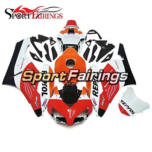 Sportfairings ABS Plastics Injection Orange Red Motorcycle Fairing Kits For Honda CBR1000RR Year 2004 2005 Cowlings