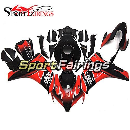 Sportfairings Black Red Injection ABS Plastics Motorcycle Fairing Kits For Honda CBR1000RR Year 2008 2009 2010 2011 Fairings