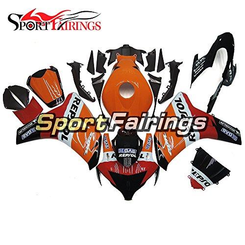Sportfairings Complete Repsol Orange Black Injection ABS Plastics Motorcycle Fairings For Honda CBR1000RR Year 2008 - 2011 Fittings