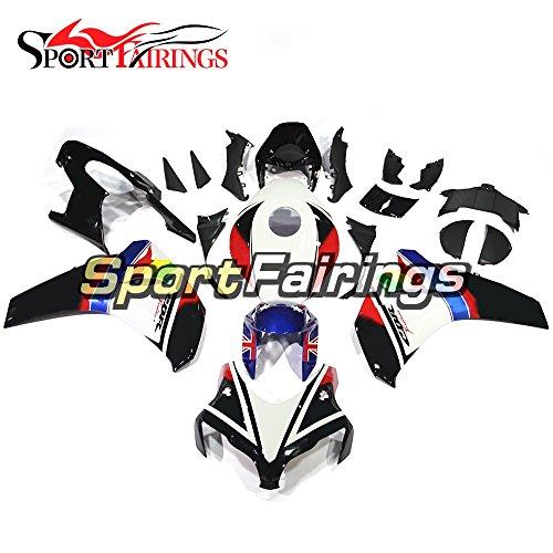 Sportfairings England White Balck Injection ABS Plastics Motorcycle Fairing Kits For Honda CBR1000 CBR1000RR Year 2008 2009 2010 2011 Cowlings
