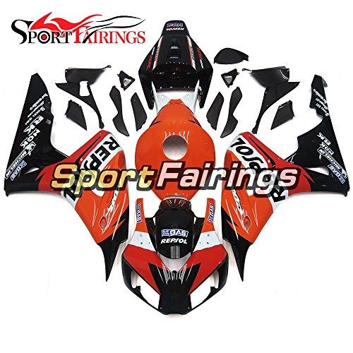 Sportfairings Orange Black Red ABS Injection Plastics Motorcycle Fairing Kits For Honda CBR1000RR Year 2006 2007 Body Kits
