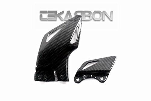 2008 - 2015 Honda CBR1000RR Carbon Fiber Heel Plates - Twill