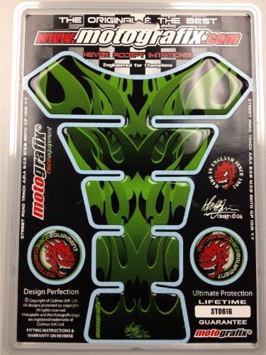 Kawasaki Ninja ZX14 ZX12 ZX10 ZX9 ZX7 ZX6 R 250R 300 Green Tribal Motorcycle Tank pad Protector