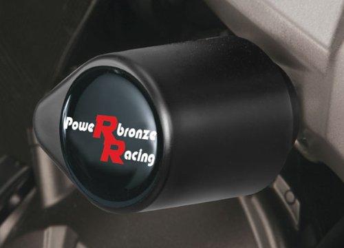 Powerbronze 513-K118-003 badged crash post set to fit Kawasaki Z750 and Z1000 Black high impact plastic