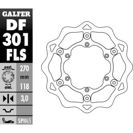 Galfer DF301FLS Oversize Front Wave Rotor