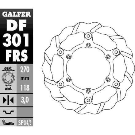 Galfer DF301FRS Tsunami Front Wave Rotor
