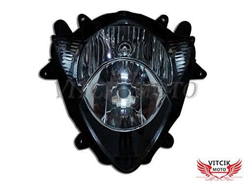 VITCIK Motorcycle Headlight Assembly for Suzuki GSXR1000 K5 2005 2006 GSXR 1000 K5 05 06 Head Light Lamp Assembly Kit Black
