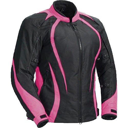 Juicy Trendz Motorcycle Motorbike Biker Cordura Waterproof Textile Jacket Pink Large
