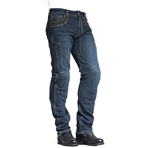 MAXLER JEAN Men's Bike Motorcycle Motorbike Kevlar Jeans 002 Blue 34