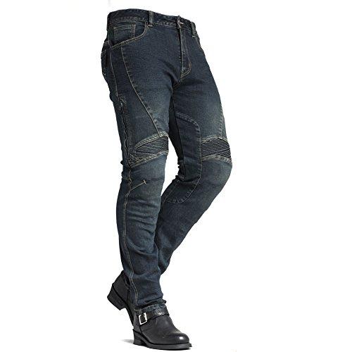 MAXLER JEAN Men's Bike Motorcycle Motorbike Kevlar Jeans 1604 Blue 34