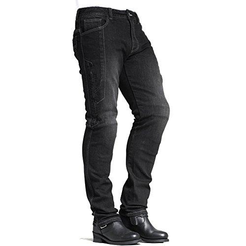 MAXLER JEAN Men's Bike Motorcycle Motorbike Kevlar Jeans 1617 Grey 38