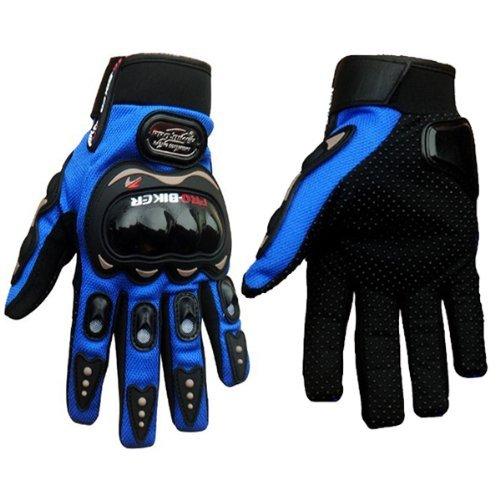 Pro-Biker Bicycle Motorcycle Motorbike Powersports Racing Gloves M Blue