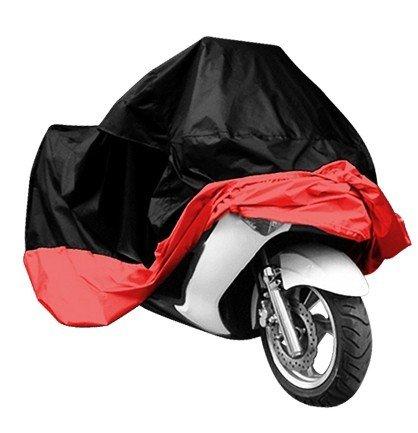 Universal Waterproof Dust Sun proof Indoor Outdoor Motorcycle Motorbike Cover for Harley Davison Honda Suzuki Yamaha Kawazaki Etc Package Bag Include XXL BlackRed
