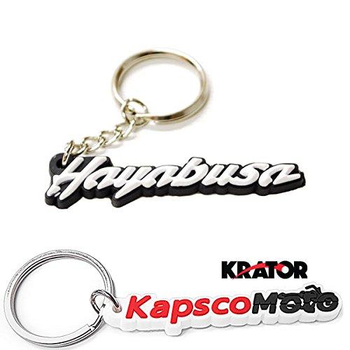 Krator SUZUKI GSXR 1300 HAYABUSA KEYCHAIN KEY RING FOB LOGO DECAL MOTORCYCLE  KapscoMoto Keychain