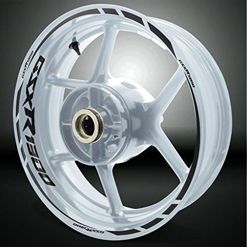 Reflective Black Motorcycle Rim Wheel Decal Accessory Sticker for Suzuki GSXR 1300 Hayabusa