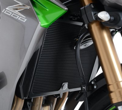 R&G Radiator Guard BLACK - Kawasaki Z750 07-  Z750R  Z800  Z1000 10-14  Z1000SX  Versys 1000