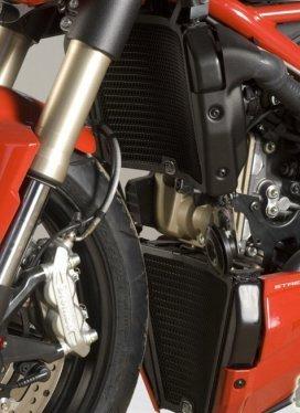 R&G Radiator Guard set BLACK - pair Ducati 848 Streetfighter