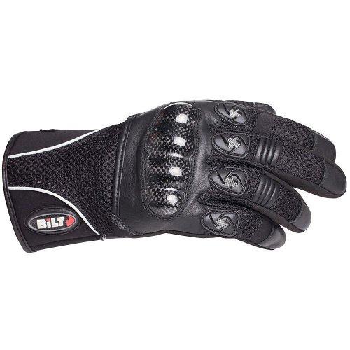BILT Spirit Carbon Mesh Motorcycle Gloves - XL Black